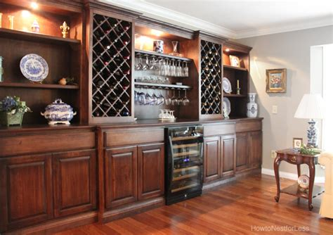 Custom Bedroom Storage by Living Room Wine Cabinet Built Ins How To Nest For Less