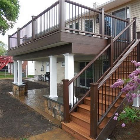 floor deck  screened  porch design  stairs