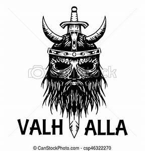 Dessin Symbole Viking : viking t te ancien symbole scandinave vecteur valhalla ic ne viking guerrier croquis ~ Nature-et-papiers.com Idées de Décoration