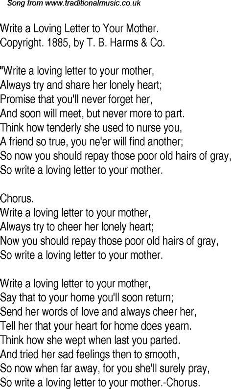 time song lyrics   write  loving letter