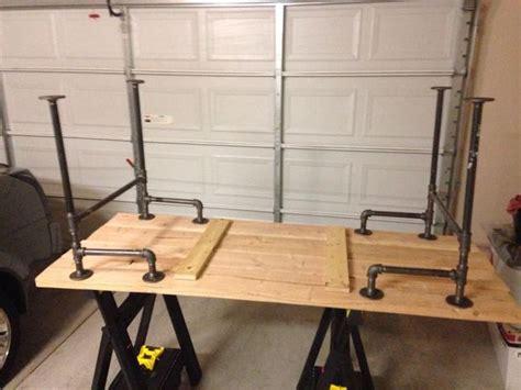 iron pipe desk plans black iron pipe table