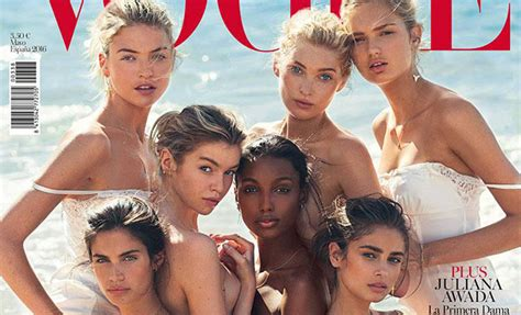 victorias secret angels cover vogue spain