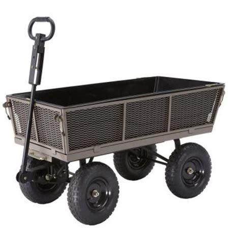 gorilla carts 1 200 lb steel multi use dump cart with