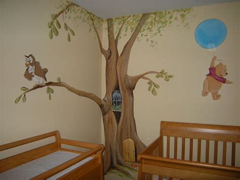 Kinderzimmer Wandgestaltung Baum by Winnie The Pooh Baby Nursery Mural Welcome To My Flickr