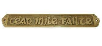 cead mile failte doormat cead mile failte medium brass wall plaque the kerry