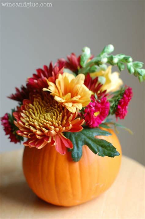 Diy Thanksgiving Centerpiece Wine And Glue