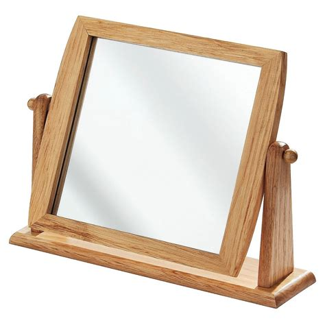 with wooden frame own this bonsoni wooden frame swivel mirror table mirror