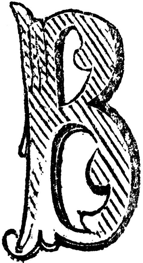 decorative letter b decorative letter b clipart etc 15692