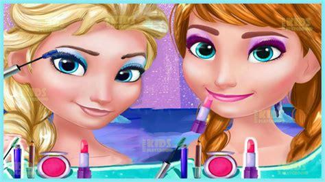 Frozen Princess Elsa And Anna Prom Makeup Design Game For