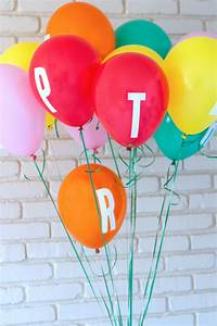 letter decal balloon banner o a subtle revelry With balloon letter banner