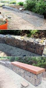 construire un mur de soutenement 84 idees jardin With awesome jardin en pente amenagement 4 mur gabion dans le jardin moderne un joli element fonctionnel