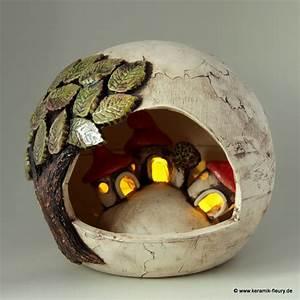 Töpfern Ideen Für Haus Und Garten : wichtel windlicht fleury kreative keramik f r haus und garten keramik fleury windlicht ~ Frokenaadalensverden.com Haus und Dekorationen