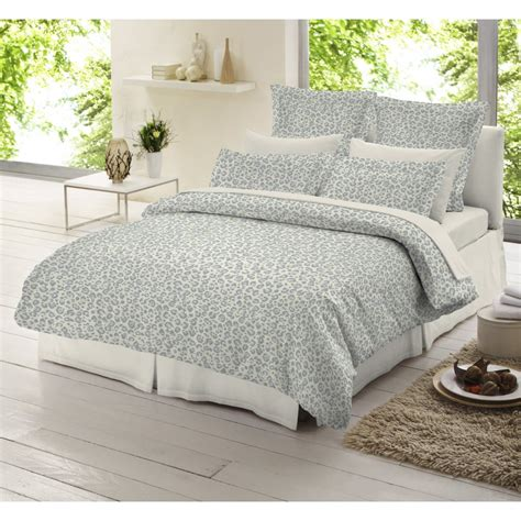 grey duvet cover dormisette leopard grey 100 brushed cotton duvet cover