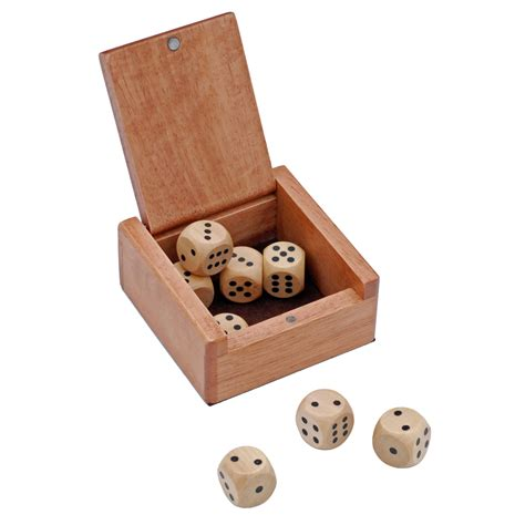 dice box   wooden dice wood expressions