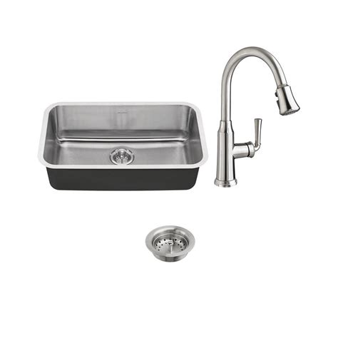 kitchen sinks stainless steel undermount bowl american standard portsmouth all in one undermount 9835