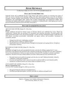 daycare resume skills and abilities free daycare center director resume exle