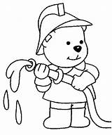 Firefighters Coloring sketch template