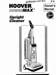 Hoover Max Extract 77 Carpet Cleaner Manual