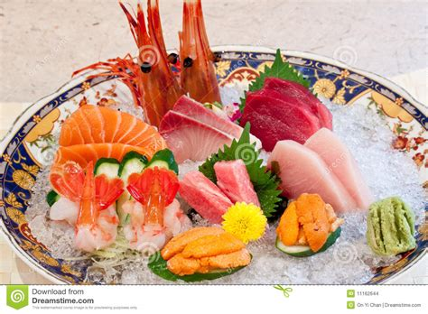 dining set 9 japanese dishes sashimi stock images image 11162644