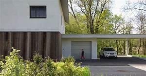 maison contemporaine bois et beton des idees novatrices With maison en beton banche 2 mlel dank architectes
