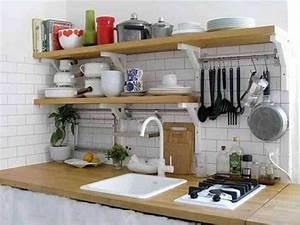 Rangement Cuisine Organisation : planche et barre de suspension pour rangement cuisine ~ Premium-room.com Idées de Décoration