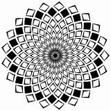 Mandala Coloring Pages Mandalas Squares Geometric Patterns Adults Designs Complex Zen Difficult Adult Stress Anti Composed Elements Ready Quadrilateral Forms sketch template