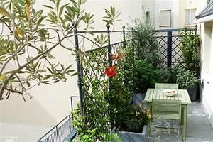 terrasses sur 2 niveaux 2 ambiances l39esprit au vert With ordinary photo jardin avec palmier 15 gazon synthetique artificiel gazon et jardin