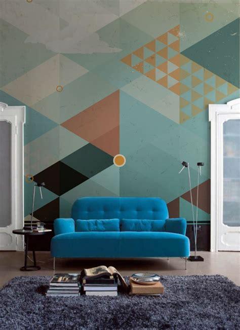 papier peint motif geometrique pastel picslovin