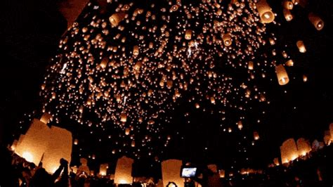 lanterns in the sky on