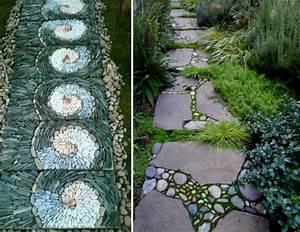 Gartenwege Aus Kies : gartenweg anlegen gestalten ideen f r garten architektur ~ Watch28wear.com Haus und Dekorationen