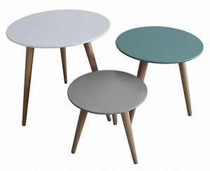 Table D Appoint Gigogne : set 3 tables gigognes stockholm mobilier d 39 appoint inwood sur ~ Teatrodelosmanantiales.com Idées de Décoration