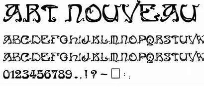 Nouveau Font Fonts Caps Deco Retro Calligraphy