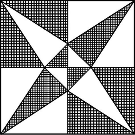 Crossed Canoes Quilt Block Pattern by Crossed Canoes Quilt Block Pattern Printable Quilt Block