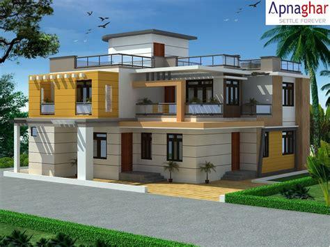 exterior view   building designed  apnaghar
