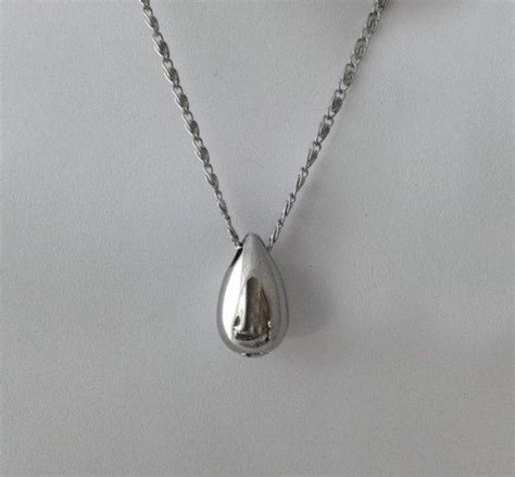 teardrop cremation urn pendant stainless steel by west