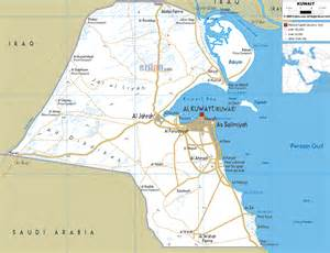 Kuwait Map - Road Map of Kuwait Kuwait