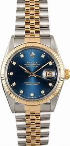 Rolex Datejust 16013 Blue Diamond Certified Pre-Owned