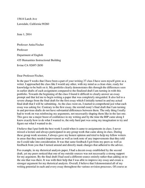 Cover Letter Sle For Portfolio by Cover Letter Omar Morales Writing 37 Portfolio