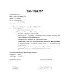 Contoh Surat Perintah Kerja Perusahaan by Contoh Spk