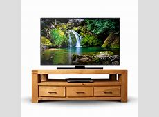 50% Off Chunky Oak TV Unit Oslo