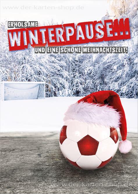 postkarte weihnachtskarte fussball erholsame winterpause