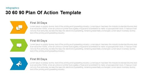 90 Days Template by 30 60 90 Day Plan Powerpoint Templates For Everyone