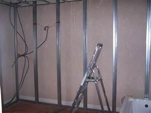 Doubler Un Mur En Placo Sur Rail : mur placo ~ Dode.kayakingforconservation.com Idées de Décoration