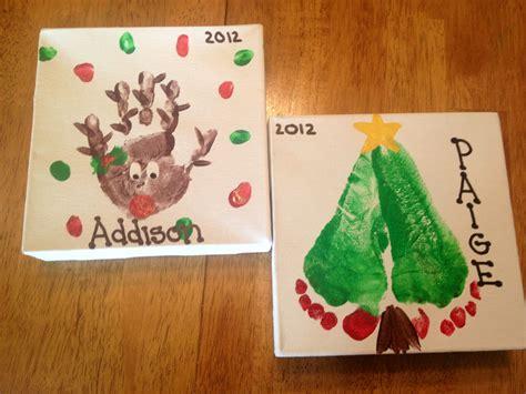 Christmas Handprints And Footprint Designs Childrens