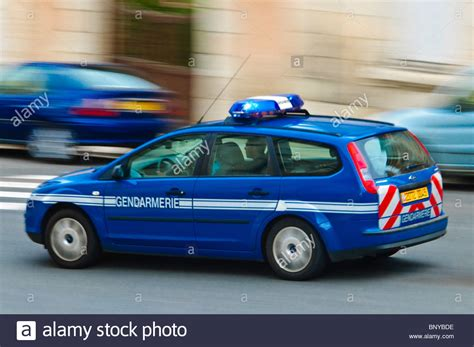French Police Car Stock Photos & French Police Car Stock