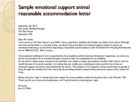 letter for emotional support emotional support animal letter sle airline templates