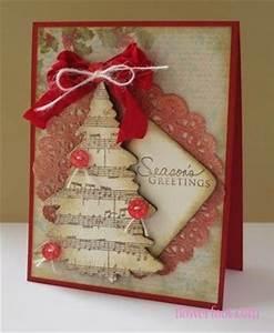 Handmade Christmas Cards with Christmas Tree and Sheet