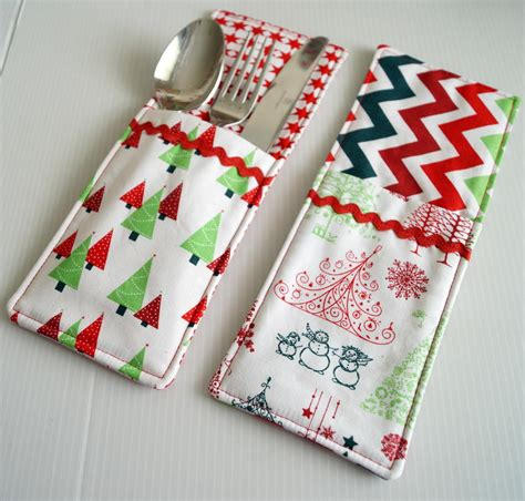 craft ideas for kitchen cutlery pockets sewing pattern allfreesewing com