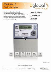 Edmi Mk 10 Electricity Meter User Guide To Lcd