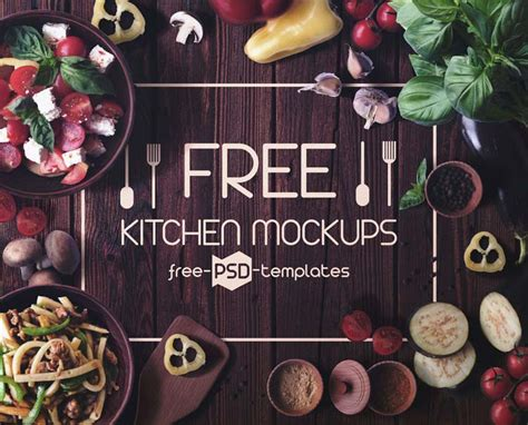 kitchen mockups mockuptree